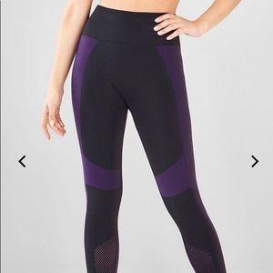 Fabletics Demi Lovato Purple & Black Leggings